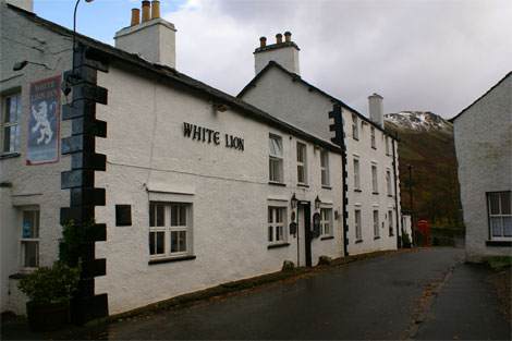 White Lion Inn - take the next left!